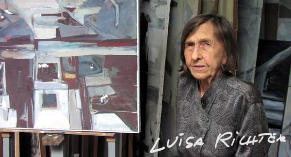 Luisa Richter en su taller