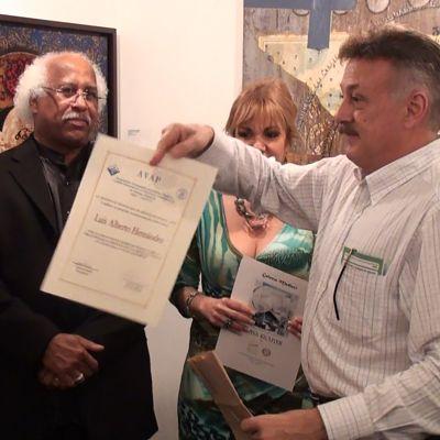 La Asociación Venezolana de Artistas Plásticos AVAP otorga reconocimiento a Luis Alberto Hernández